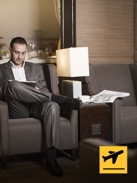 Al Reem Lounge - Departure from Abu Dhabi International Airport - Short Stay (3hrs)